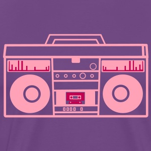 1980 BOOM BOX simple with speakers for a DJ T-Shirts - Men's Premium T-Shirt