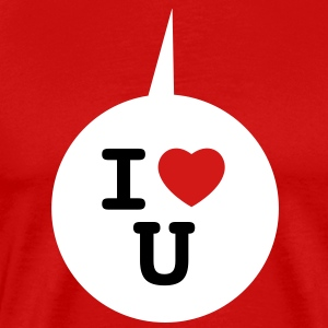 I heart U - Speech bubble 3c T-Shirts - Men's Premium T-Shirt