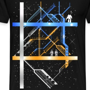 Mecha Maze in Thhe Stars - Men's Premium T-Shirt