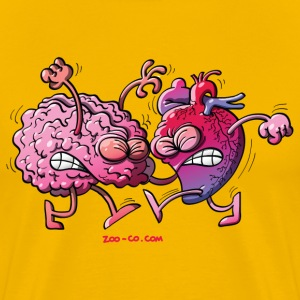 Hearth vs Brain T-Shirts - Men's Premium T-Shirt