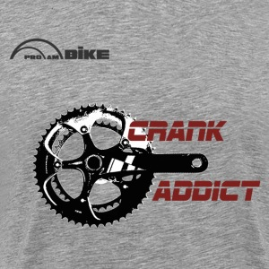 Cycling T Shirt - Crank Addict - Men's Premium T-Shirt