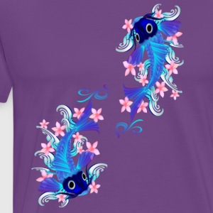 Two Blue Koi  - Men's Premium T-Shirt
