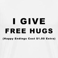 I Give Free Hugs White T