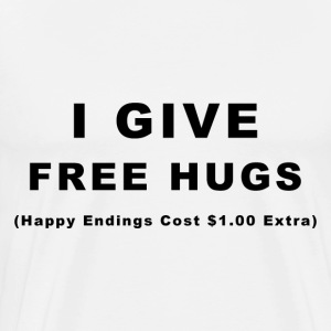 I Give Free Hugs White T - Men's Premium T-Shirt