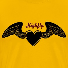 Winged Valentine's Heart 1_1c T-Shirts