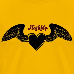 Winged Valentine's Heart 1_1c T-Shirts - Men's Premium T-Shirt