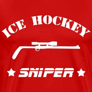 Ice Hockey Sniper T-Shirts - Men's Premium T-Shirt