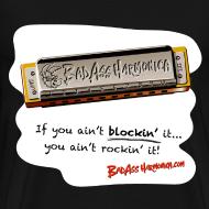 Design ~ Blockin' harmonica t-shirt (3X-4X)