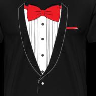 Design ~ Tuxedo T Shirt Classic Red Tie