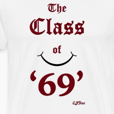 The Class of '69' maroon - cheaper!