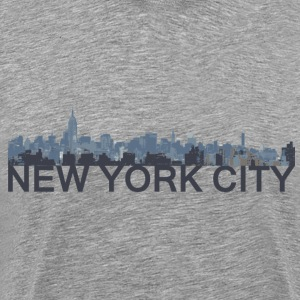 New York City Skyline - SamLoz Design - Men's Premium T-Shirt