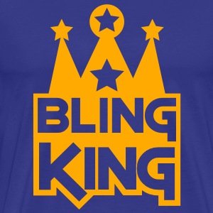 BLING KING with crown and stars T-Shirts - Men's Premium T-Shirt