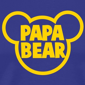 PAPA BEAR in a teddy shape super cute! T-Shirts - Men's Premium T-Shirt