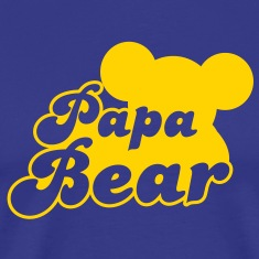 Papa Bear (new) with teddy shape T-Shirts