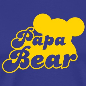 Papa Bear (new) with teddy shape T-Shirts - Men's Premium T-Shirt