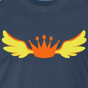 a winged royalty king crown T-Shirts - Men's Premium T-Shirt