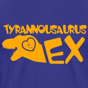 tyrannosaurus dinosaur ex married ex partner divorced T-Shirts - Men's Premium T-Shirt
