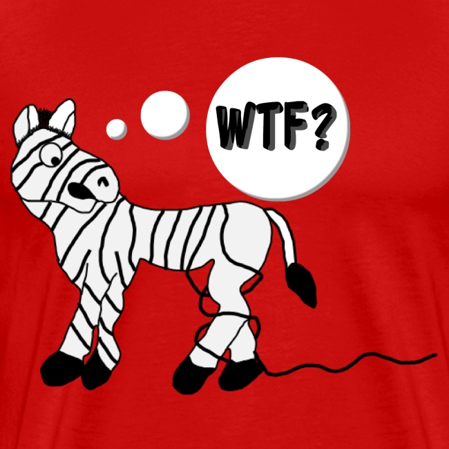 Men's Zebra T-Shirt (Comical)