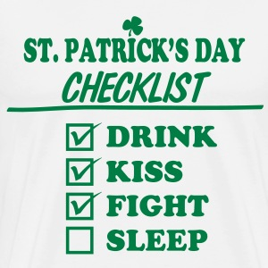 Goon - St. Patrick's Day Checklist (Clean) - Men's - Men's Premium T-Shirt