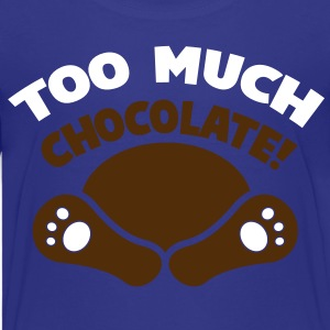 TOO MUCH CHOCOLATE fainted easter bunny! with his feet showing Kids' Shirts - Kids' Premium T-Shirt