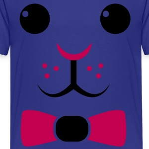 simple easter rabbit face with a bow so cute! Kids' Shirts - Kids' Premium T-Shirt