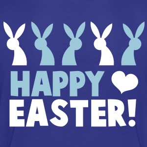 Happy EASTER! with a line of rabbits love heart Toddler Shirts - Toddler Premium T-Shirt