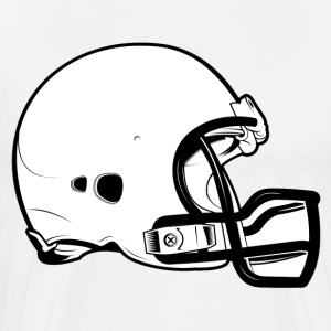 Football Helmet HD Design T-Shirts - Men's Premium T-Shirt