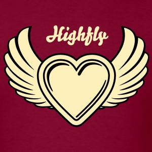 Winged Valentine's Heart 2_2c T-Shirts - Men's T-Shirt