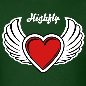Winged Valentine's Heart 3_3c T-Shirts - Men's T-Shirt