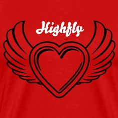 Winged Valentine's Heart 2_1c T-Shirts