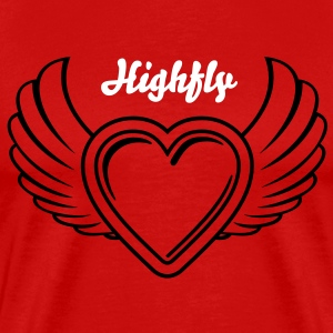 Winged Valentine's Heart 2_1c T-Shirts - Men's Premium T-Shirt