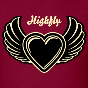 Winged Valentine's Heart 3_2c T-Shirts - Men's T-Shirt