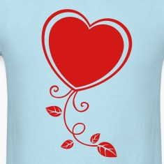 Heart with Floral 1 T-Shirts