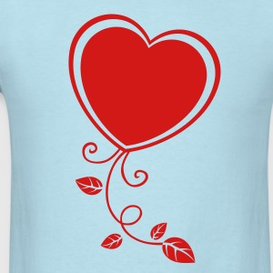Heart with Floral 1 T-Shirts - Men's T-Shirt