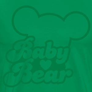 BABY BEAR (new) with teddy shape T-Shirts - Men's Premium T-Shirt