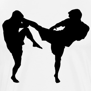 MMA Kick HD VECTOR T-Shirts - Men's Premium T-Shirt