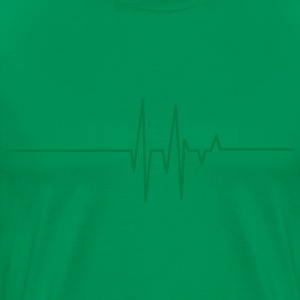 heart beat line T-Shirts - Men's Premium T-Shirt