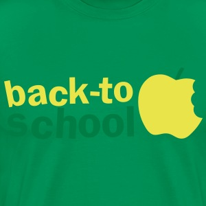 BACK TO SCHOOL with green apple T-Shirts - Men's Premium T-Shirt