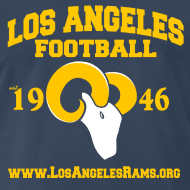 Design ~ Los Angeles Football T-Shirt (Navy Blue)