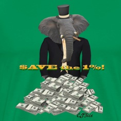 Save the 1%! - Tuxedo Elephant Rolling In It