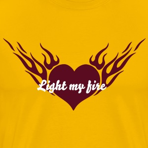 Fire Heart 1_1c T-Shirts - Men's Premium T-Shirt