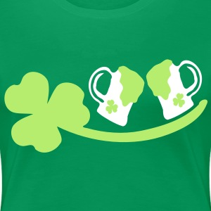 Shamrock green beer st.patrick's day Women's Plus Size Basic T-Shirt - Women's Premium T-Shirt