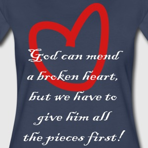 god_can_mend_a_broken_heart Plus Size - Women's Premium T-Shirt