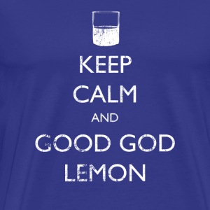 Keep Calm and Good God Lemon - 30 Rock | Robot Plu - Men's Premium T-Shirt