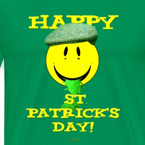 Happy St. Patrick's Day Barfing Smiley - Men's Premium T-Shirt