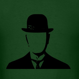 Smash Vintage  Magritte Inspired Bowler Classic  T-Shirts - Men's T-Shirt