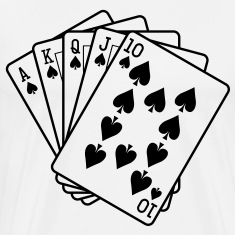 Royal Flush HD VECTOR T-Shirts