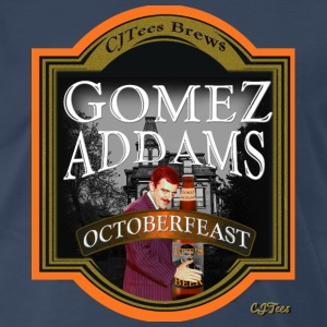 Gomez Addams Beer Label - Men's Premium T-Shirt