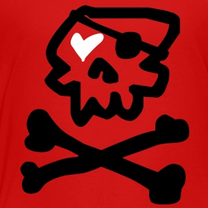 Kantno Skull & Crossbones & Heart Toddler T-Shirt - Toddler Premium T-Shirt