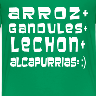 Design ~ ARROZ+ GANDULES+ LECHON+ ALCAPURRIAS= :) KIDS
